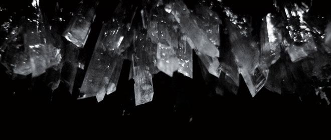 The Crystallisation Of Salt At Night